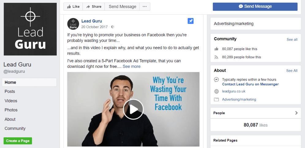 Lead guru facebook page
